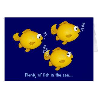 Cartão Abundância dos peixes no mar, abundância dos