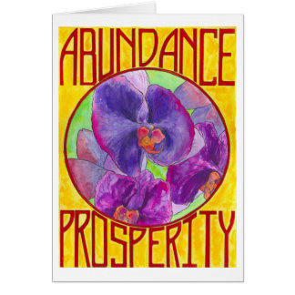 Cartão Abundância/prosperidade