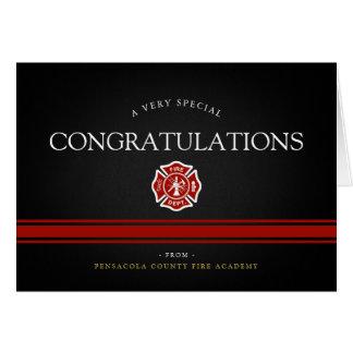 Cartão Academia Congrats preto feito sob encomenda do