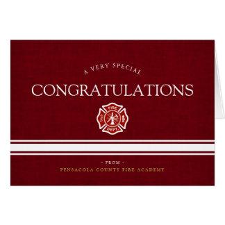Cartão Academia Congrats vermelho feito sob encomenda do
