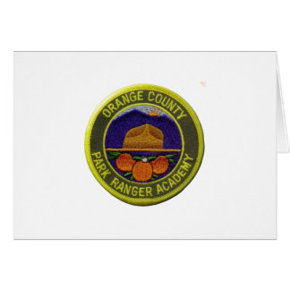 Cartão Academia da guarda florestal do Condado de Orange