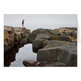Cartão Acadia NP: na ponta da península de Schoodic