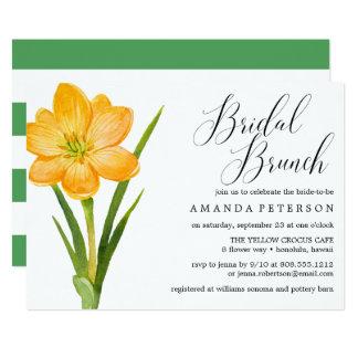 Cartão AÇAFRÃO na moda do AMARELO da flor que wedding a