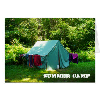 Cartão Acampamento de Verão