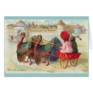 Cartão Acção de graças do vintage