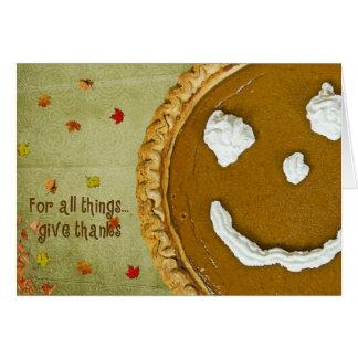 Cartão Acção de graças feliz