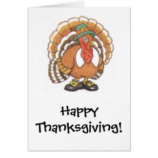 Cartão Acção de graças feliz de Turquia!