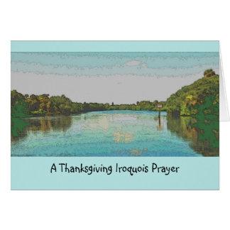 Cartão Acção de graças Iroquois