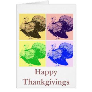 Cartão Acção de graças Turquia