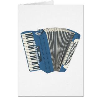 Cartão accordian azul