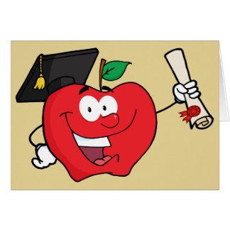 Cartão Aceitação da escola do formando dos parabéns