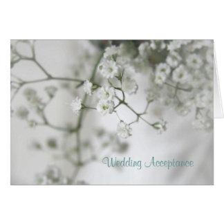 Cartão Aceitação do casamento da pureza
