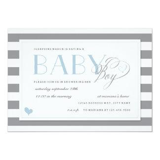 Cartão Acentos cinzentos & brancos do azul do chá do bebé