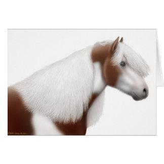 Cartão aciganado do cavalo da pintura