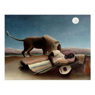 Cartão aciganado do sono de Rousseau