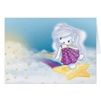 Cartão Acima das nuvens
