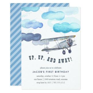 Cartão Acima de & afastado a festa de aniversário do
