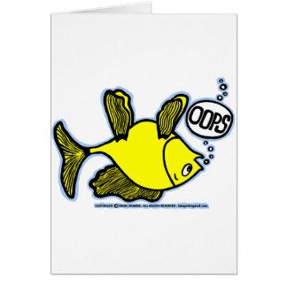 Cartão Acima do lado pesque para baixo!