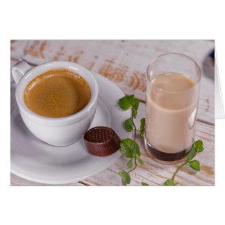 Cartão acolhedor do café
