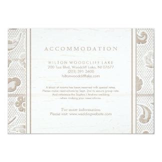 Cartão Acomodação rústica de madeira do casamento do país