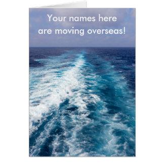 Cartão Acordar do navio de cruzeiros