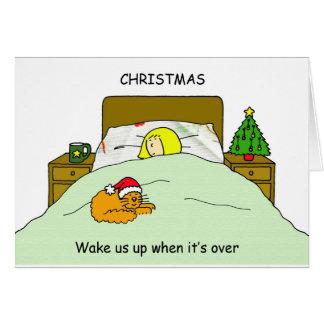 Cartão Acorde-nos acima de quando o Natal se acaba