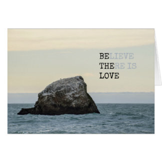 Cartão Acredite que há um amor
