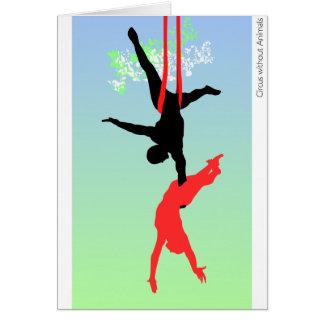 Cartão Acrobats. de circo novos