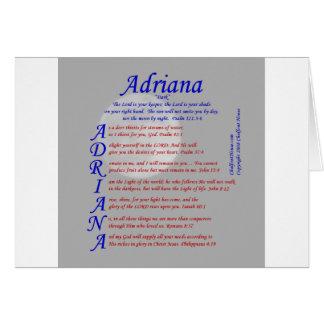 Cartão Acrostic de Adriana