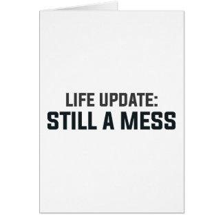 Cartão Actualização da vida: Ainda uma confusão