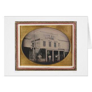 Cartão Adams & os Co. expressam a construção (40129)