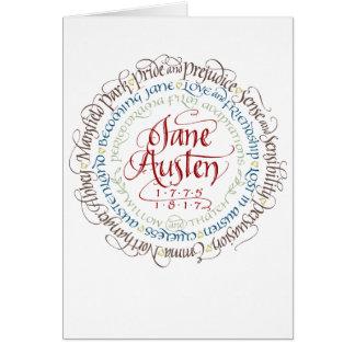 Cartão Adaptações do drama de período de Jane Austen do