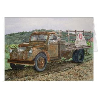 Cartão Adega oxidada Napa Valley de Sattui do caminhão