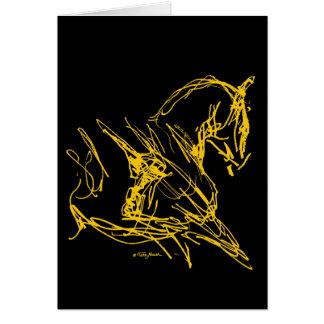 Cartão Adestramento: Carruagem do auto - ouro no preto