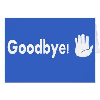 Cartão Adeus!