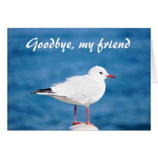 Cartão Adeus Auf Wiedersehen Despedida de Sayonara da