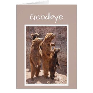 Cartão Adeus e boa sorte do grupo de nós ursos