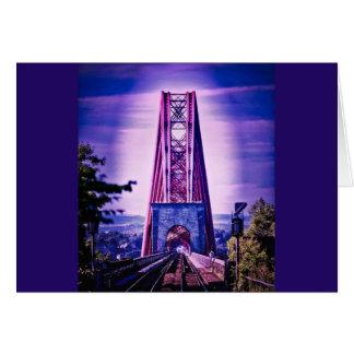 Cartão Adiante ponte do trilho