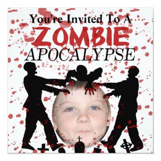Cartão Adicione sua foto a uma invasão do apocalipse do