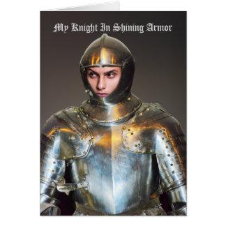 Cartão Adicione sua própria foto - cavaleiro engraçado na