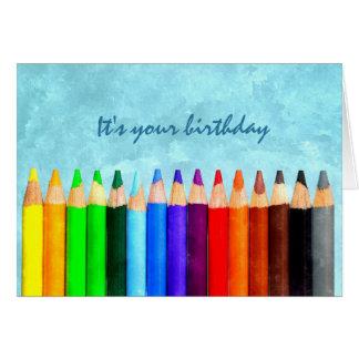 Cartão Adicione todo o cumprimento do aniversário da