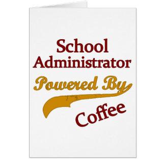 Cartão Administrador de escola psto pelo café
