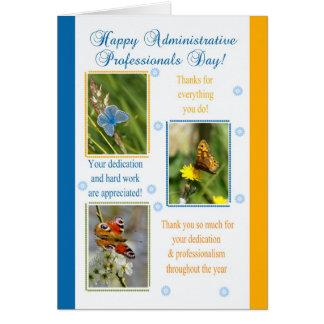 Cartão administrativo do dia dos profissionais -