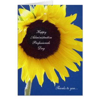 Cartão administrativo do dia dos profissionais --