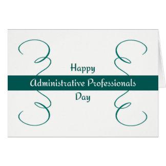 Cartão administrativo do dia dos profissionais