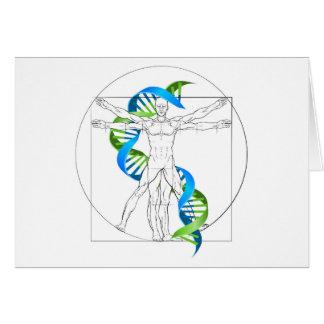Cartão ADN do homem de Vitruvian