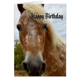 Cartão Adoce o aniversário do cavalo do Appaloosa