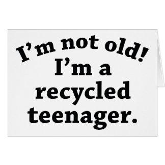 Cartão Adolescente do reciclado