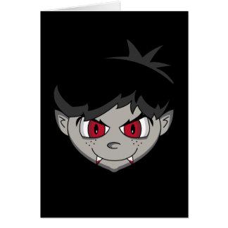 Cartão adolescente do terror do vampiro