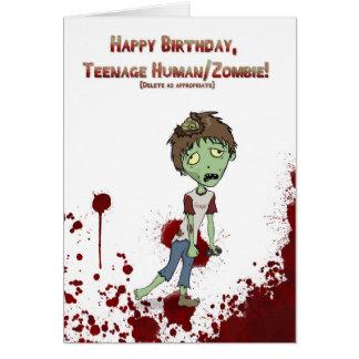 Cartão Adolescente do zombi do feliz aniversario